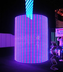 curved LED array at PLASA 2009