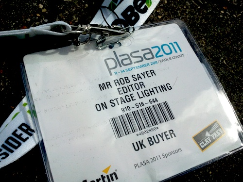 PLASA 2011 Report - Rob Sayer
