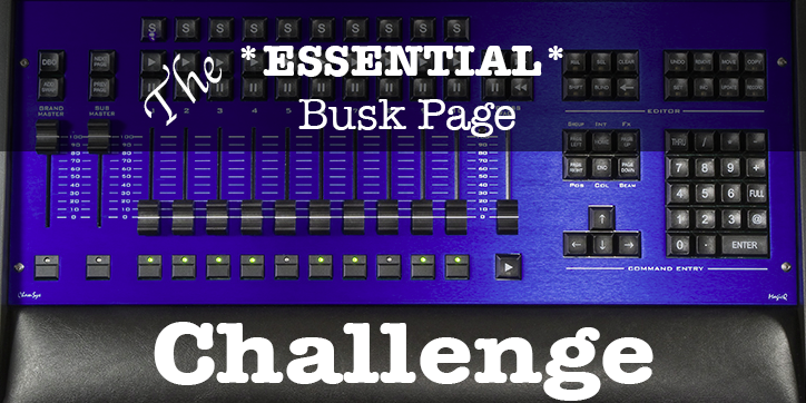 Essential Busking Pages 2 – Palettes Only | - Stage Lighting