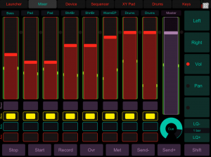 OSC and Stage Lighting Control interface using TouchOSC.